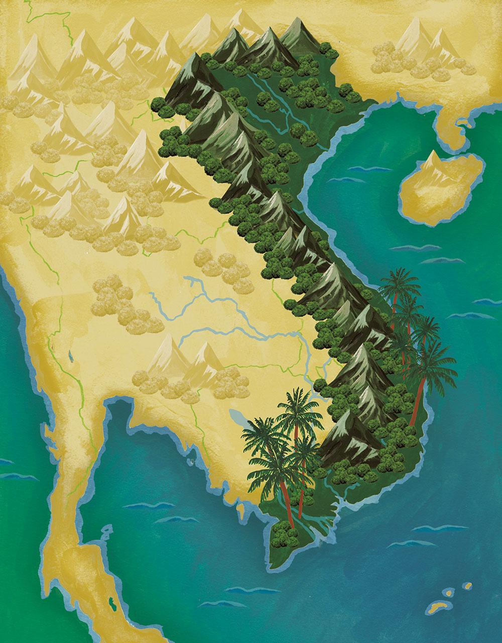 草野碧イラストレーション_TRANSIT38号 ベトナム 懐かしくて新しい国へ イラストレーション