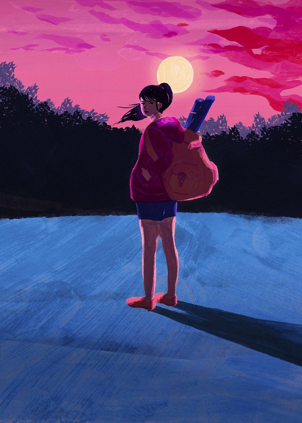 イラストレーション 人物 ウルスラ 魔女の宅急便 草野碧