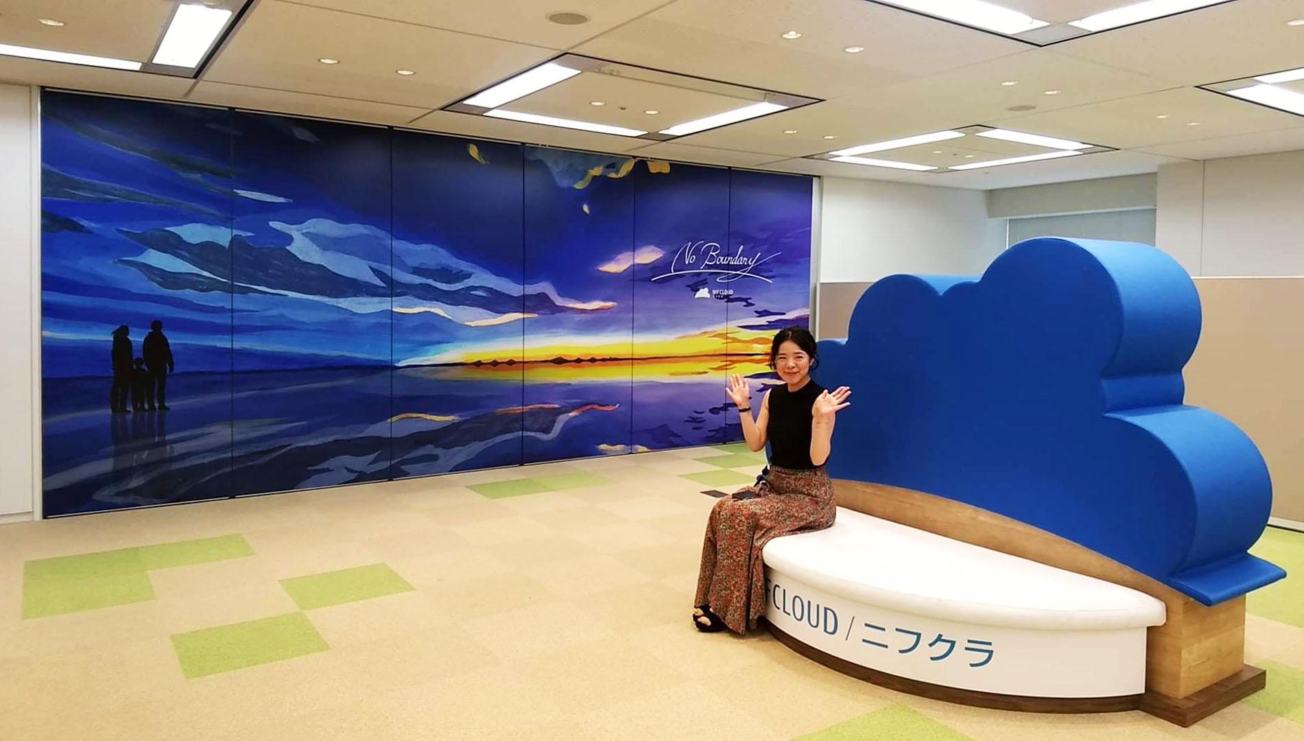 草野碧イラストレーション_『富士通クラウドテクノロジーズ』ニフクラ