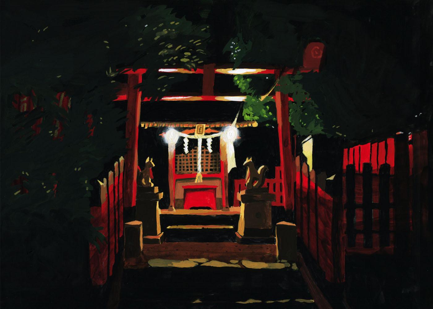 草野碧イラストレーション_風景