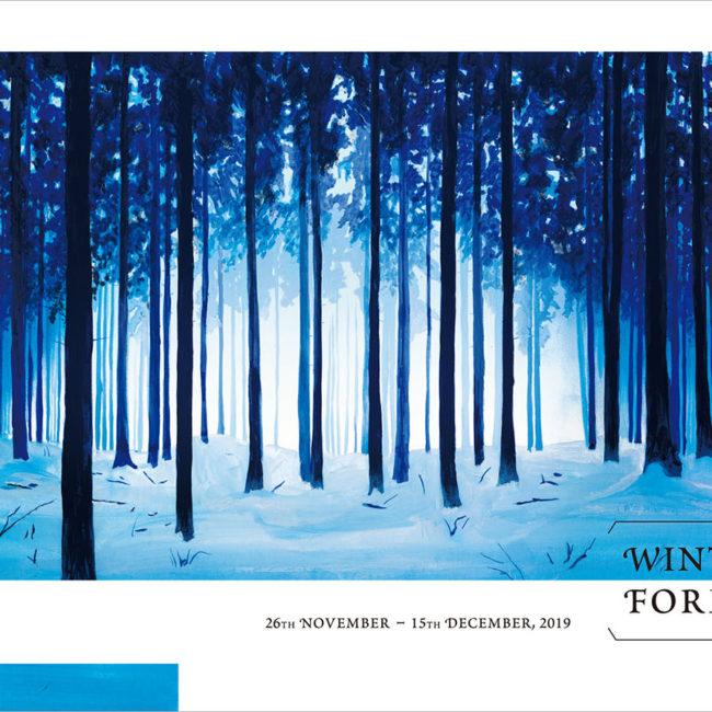 草野碧イラストレーション_個展『Winter Forest』DM